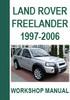 Thumbnail Land Rover Freelander 1997-2006 Workshop Repair Manual